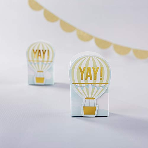 Kate Aspen Hot Air Balloon Favor Box (Set of 48) - Perfect Favor Container & Decoration for Baby Showers or, Birthdays ()