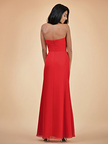 Alicepub Formal Maxi Bridesmaid Dress Champagne Gown Evening Long Prom Chiffon Dresses rrafwxqZ