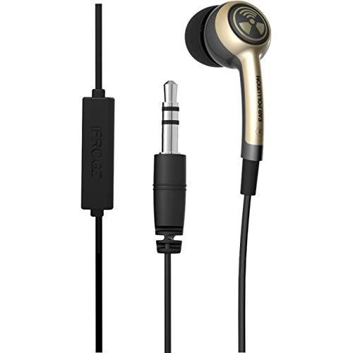 iFROGZ Ear PollutionPlugz IFPLGM-SV0 - Earbuds with MIC - Gold/Tan - incl. 3 pairs of ear bud tips in sizes S/M/L