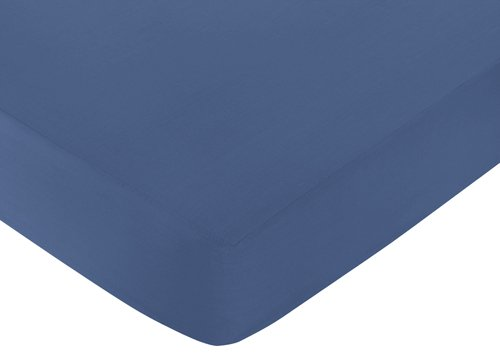 Sweet Jojo Designs Fitted Crib Sheet for Space Galaxy Baby/Toddler Bedding Set Collection - Light Blue