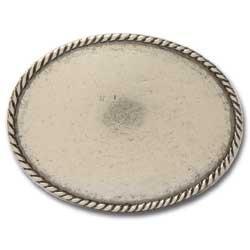 Tandy Leather Oval Rope Edge Belt Buckle Blank 1764-00 (Edge Buckle)