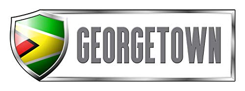 Georgetown Exterior Wall - Makoroni - GUYANA GEORGETOWN Country Nation Sticker Decal Car Laptop Wall Sticker Decal 3'by9' (Small) or 4'by12' (Large)
