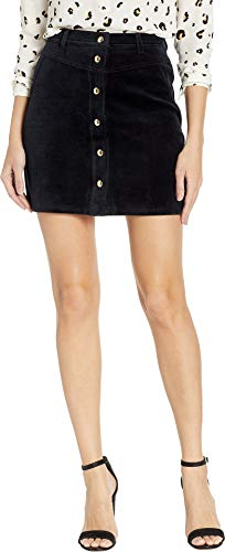 Juicy Couture Women's Track Bonded Velour Skirt Pitch Black 6