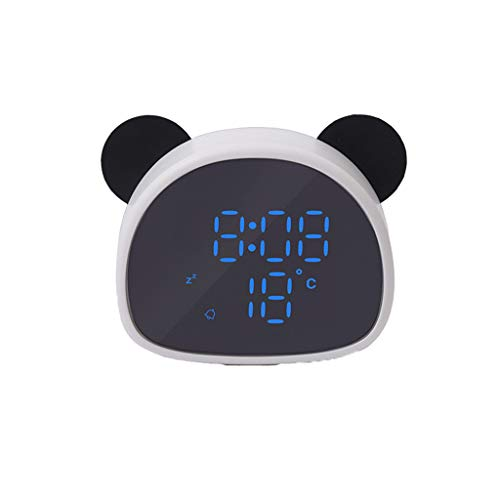 SANNYSIS Panda Alarm Clock LED Makeup Mirror Table Lamp with LED Eye Care Night Light