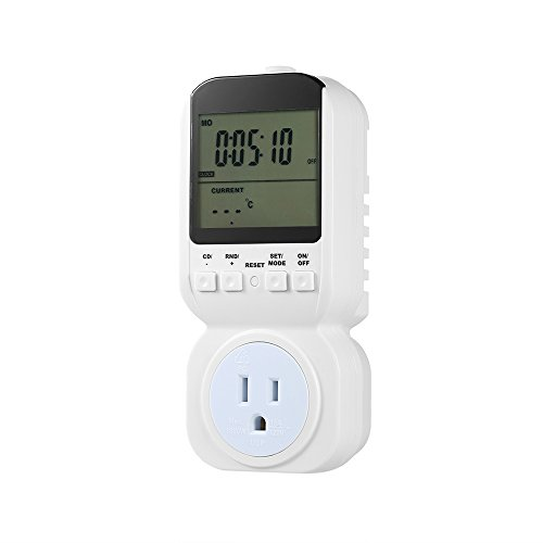 (Anself Wireless Thermostat Plug Automatic Temperature Controller Plug (Timer Switch))
