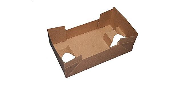 meyerpak bandejas de servicio de alimentos tak10624 – 1 Classic 4 esquina j-tray, alimentos y bebida 4 Capacidad, 100% cartón reciclado, Kraft (Pack de 400): Amazon.es: Amazon.es