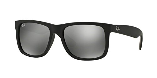 Ray-Ban Justin Sunglasses (RB4165) Black/Grey Plastic,Nylon - Non-Polarized - - 54 Rb4165