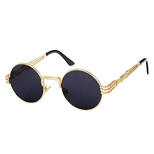 IslandseUnisex Round Vintage Mirrored Eyewear Outdoor Sports Sunglasses ()