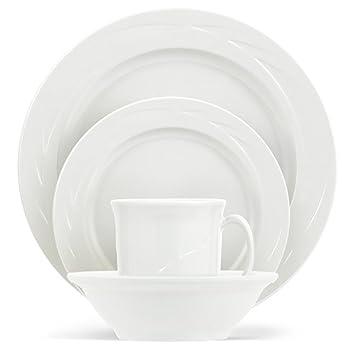 ThermoServ 16 Piece Melamine Dinnerware Set – Chef s Collection – Classic Pure White