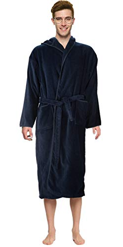 - Bath Robe Men's/Boys 100% Cotton Bathrobe Long Hooded Bathrobe 100% Absorbent Cotton Terrycloth Inside And Velour Finishing Outside With 2 Pockets by Abstract