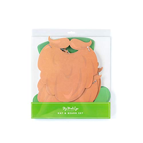 St. Patrick's Day Hat & Beard - Party Masks - 6 ct.