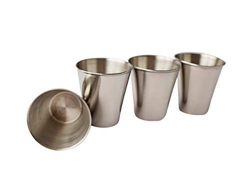 Stainless Steel Shot Glass, 1.5 oz, Set of 4
