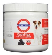 Stratford Pharmaceuticals CadaFlex Soft Chews with MSM - Glucosamine for Dogs - All-Natural Hip & Joint Pain Relief -Glucosamine Chondroitin Dogs Treats (Sm/Md Dogs Under 60 lbs. / 84 Soft Chews) by Stratford Pharmaceuticals