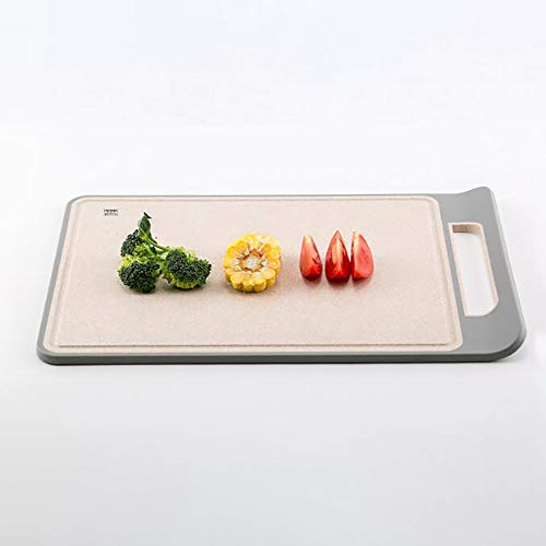 FAMILYA Wheat Chopping Board Cutting Board Home Chopping Board Kitchen Accounted For Plaque Panel Antibacterial Mildew Plastic Knife Husk (Size : M)