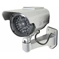 Streetwise Security Products Dc1100Ssp 5 Inch Ir Dummy Camera In Circular Outdoor Housing with Solar Powered Light - Siver - by Cutting Edge