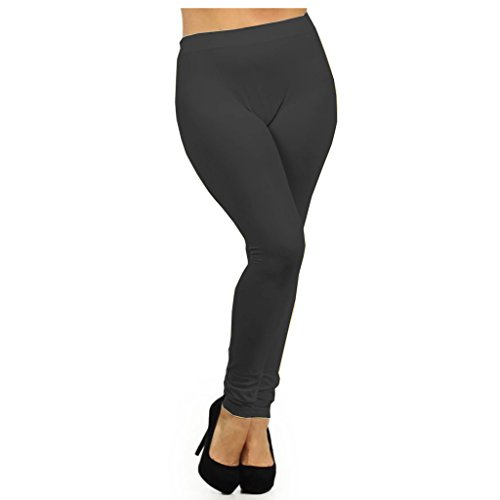 Women's Plus Size Basic Leggings (Fits 1X thru 3X)Ê- Charcoal