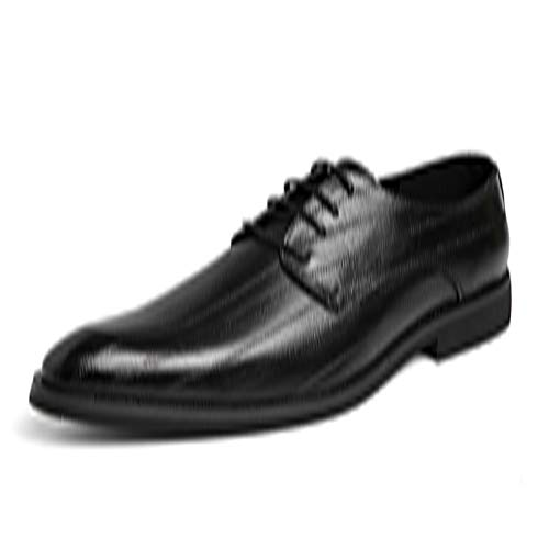 Microfiber Pants Resistant Water (Men's Lace Up Microfiber Leather Textured Waterproof Vamp Pointed Toes Business Oxford Formal Dress Shoes (Color : Black, Size : 6.5 D(M) US))