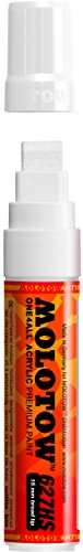 Molotow ONE4ALL Acrylic Paint Marker, 15mm, Signal White, 1 Each (627.211)