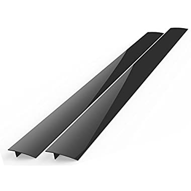 Kohzie Silicone Stove Counter Gap Covers - BLACK-MATTE - Seals Spills Between Stoves, Counters, Ovens, Washing Machines, Dryer