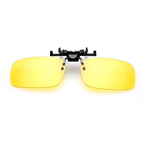 LOMOL Unisex Fashion UV protection Clip-on Flip-up Rectangular Driving Night Vision Goggles - Store Triathlon Singapore