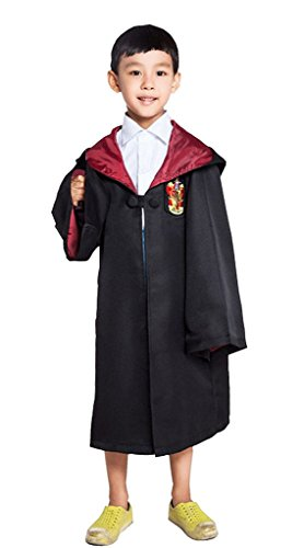 FunnySun Costume Harry Potter Child's Costume Robe With Gryffindor Emblem,mfp01-xh Red 125 (Hufflepuff Robes)