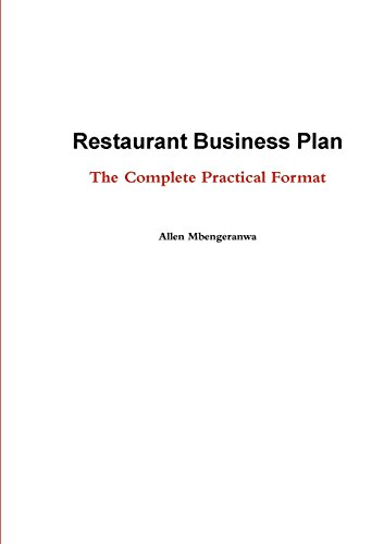 restaurant business plan book - 8