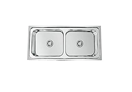 Excellent Crocodile 304 Grade Stainless Steel Double Bowl Kitchen Sink 45 X 20 X 9 Home Interior And Landscaping Palasignezvosmurscom