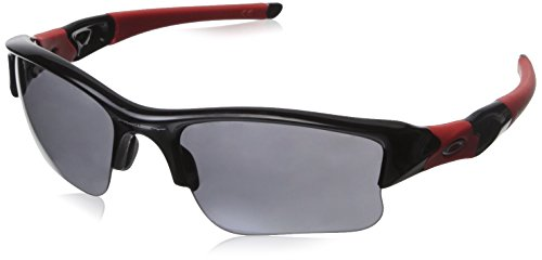 Oakley Flak Jacket XLJ Non-Polarized Iridium Rectangular Sunglasses,Polished Black,63 - Heritage Collection Oakley