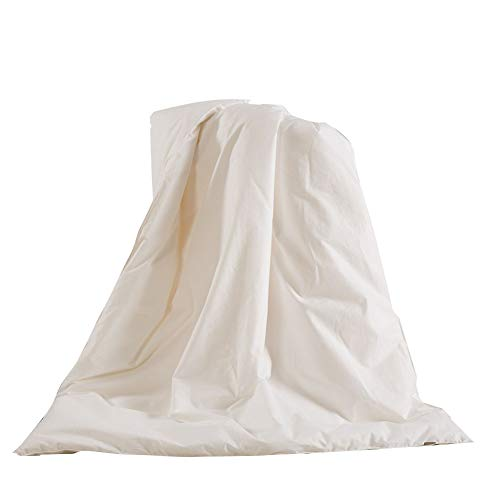 THXSILK 100% Mulberry Silk Duvet Comforter in White Cotton Shell for Baby Crib...