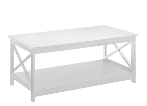 Convenience Concepts Oxford Coffee Table, White (Coffe Table Stand)