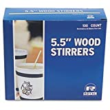 RPPR825 Wood Coffee Stirrers, 7-1/2'' Long, Woodgrain, 500 Stirrers/Box