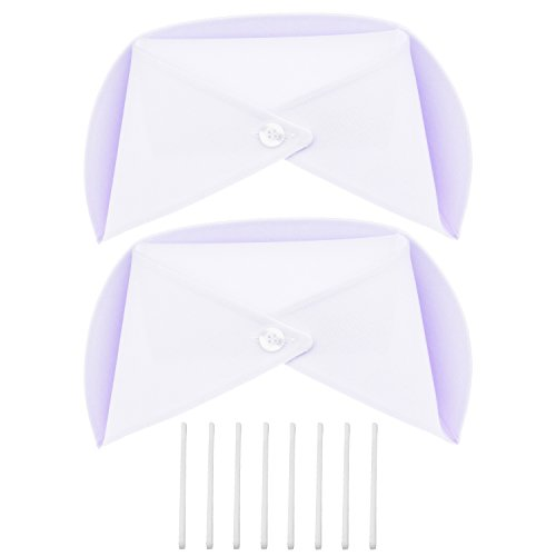 Kasteco 2 Pack White Nurse Hat Headband Nurse Cap Costume and 8 Pins -