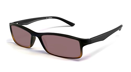Calabria Reading Glasses - 723T Flexie Reading Sunglasses in Black-Brown +2.00 by Calabria