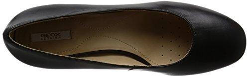 Geox D Audalies Mid a, Zapatos de Tacón para Mujer Negro (Black)