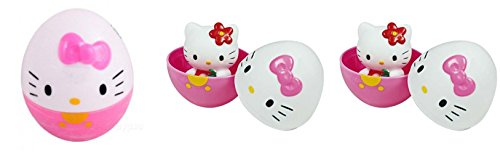 Toho Hello Kitty Suprise Eggs with Figure Bundle of 3 (Choices May -