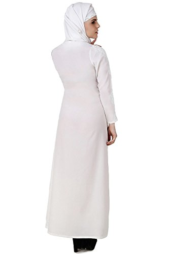 tragen moslemische burqa hajj abaya 569 Baumwolle amp; AY formal weiße Frauen MyBatua qw60zYn