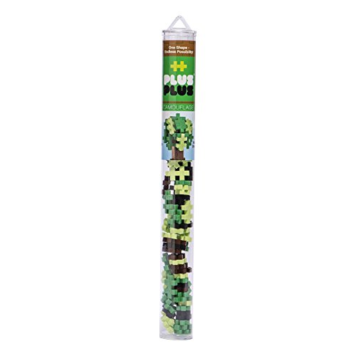 Plus-Plus - Construction Building Toy, Open Play Tube -70 Piece - Camouflage