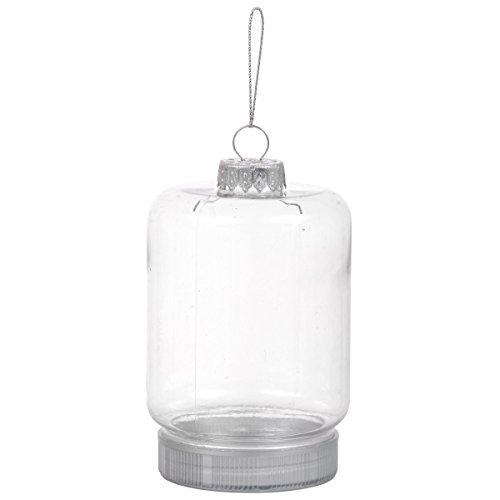 DIY Clear Plastic Mason Jar Style Ornament - Set of 2 -