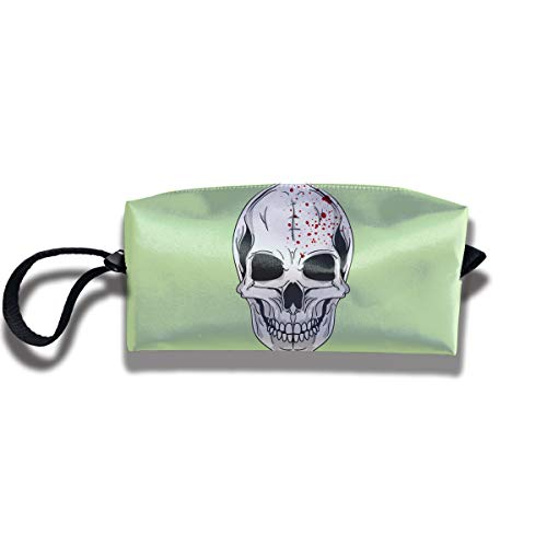 Coin Pouch Skull Pen Holder Clutch Wristlet Wallets Purse Portable Storage Case Cosmetic Bags Zipper -