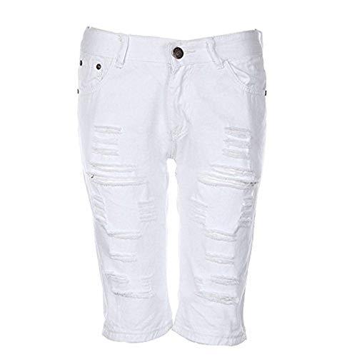 Corti Da Rte Ripped Jeans Pantaloni Abbigliamento Tight Knee Hole Multipli All'aperto Uomo Grau Pants Adelina n45Yq7w4