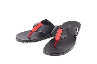 GasStone Black Thong Slipper For Men