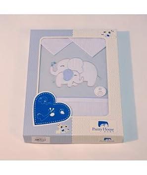 Cuna 60x120cm 10XDIEZ Juego de s/ábanas Cuna Elefante Azul Medidas sabanas beb/é