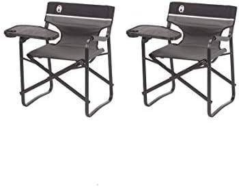 Magnificent Coleman Aluminum Deck Chair With Swivel Table 2 Pack Creativecarmelina Interior Chair Design Creativecarmelinacom