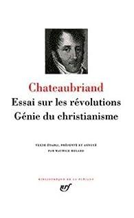 La Pléiade : Essai sur les révolutions - Génie du Christianisme  par François-René de Chateaubriand