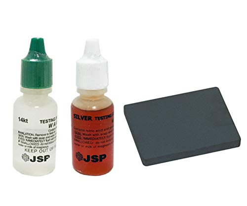 JSP Silver 925 and 14k Gold Test Acid Solution & Scratch Testing Stone USA