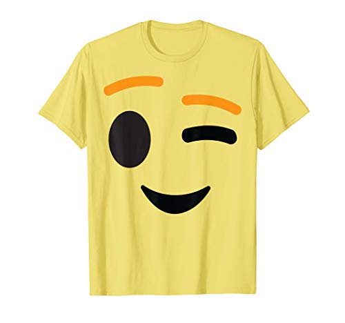 Winking Face Emoji Easy Lazy Group Halloween Costume