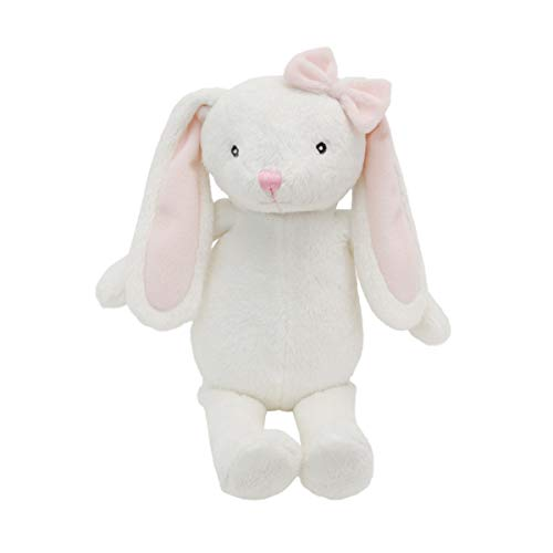 - Little Love by NoJo Olivia The White & Pink Plush Bunny with Pink Bow, White, Pink