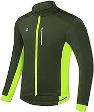 Przewalski Cycling Bike Jackets for Men Winter Thermal Running Jacket Windproof Breathable Reflective Softshel