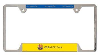 Amazoncom Fc Barcelona 6 X 12 Metal License Plate Frame