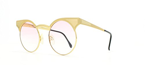 Gianfranco Ferre 85 8 Gold Vintage Sunglasses Round For Men and ()